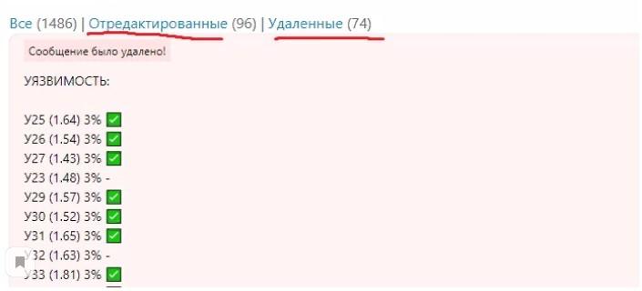 Редактирование и удаление сообщений Кондрашовым