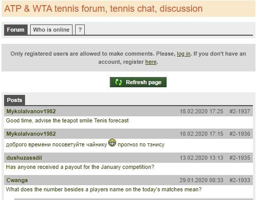 Форум Tennisexplorer